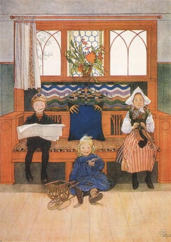 Carl Larsson: Apa, anya és gyerek