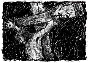 Jézus a kereszten helyettünk