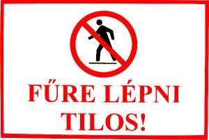 Fűre lépni tilos!