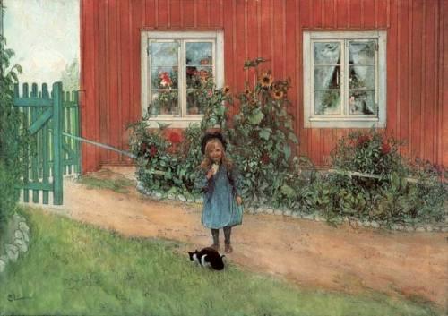 Carl Larsson: Brita cicával