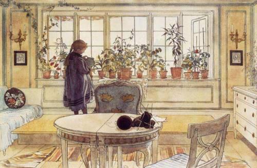 Carl Larsson: Virágos ablakpárkány