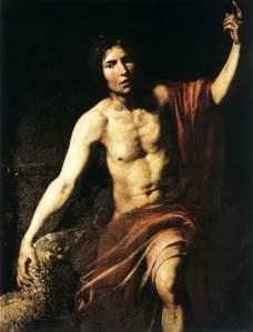 Valentin de Boulogne (1591-1632) - Keresztelő Szent János